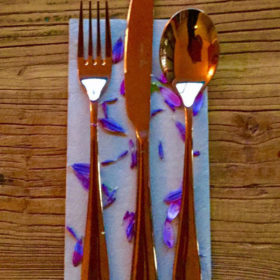 Rose gold event cutlery hire Geelong