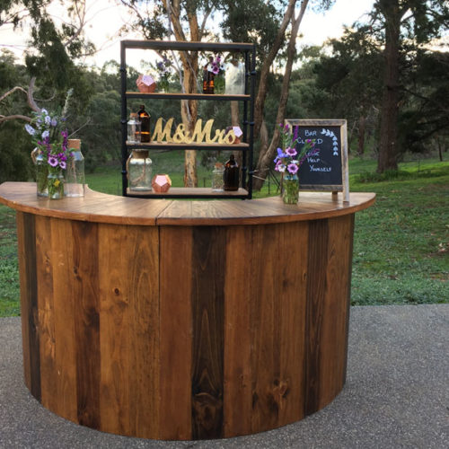 Round bar hire for events Geelong