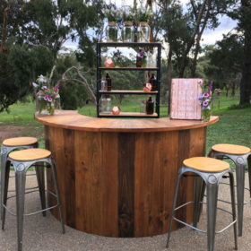 Outdoor wedding bar hire Geelong