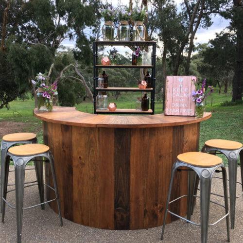 Outdoor wedding bar hire Geelong