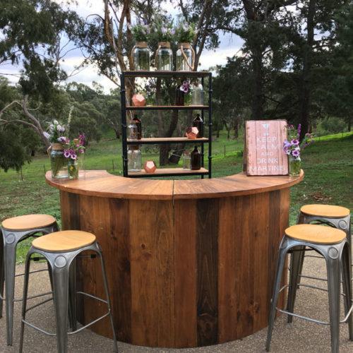 Geelong outdoor wedding bar hire