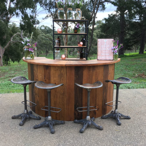 Round bar & stool hire for weddings Geelong