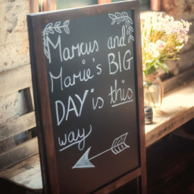 Geelong wedding chalkboard hire